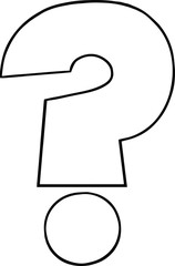 Black and White Cartoon Question Mark