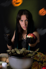Witch giving poisoned apple