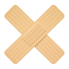 Crossed bandaid