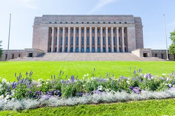 Finnish Parliament House in Helsinki