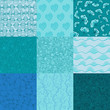 Big collection of vector seamless patterns for your design