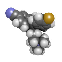 Escitalopram antidepressant drug (SSRI class)