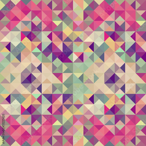 Vintage hipsters geometric pattern.