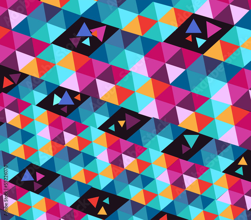 Deurstickers ZigZag Trendy hipster geometric elements.