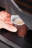 Fototapety Close up of automatic coffee machine