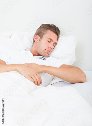 Portrait Of Young Man Sleeping