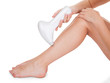Woman Doing Leg Laser Treatment