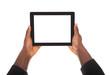 Business Man Holding Digital Tablet
