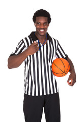 Happy Basketball Referee