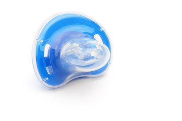 blue pacifiers with cover with clipping path