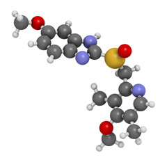Omeprazole dyspepsia and peptic ulcer disease drug, chemical str