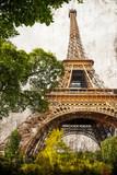 Fototapeta la Tour Eiffel retrò
