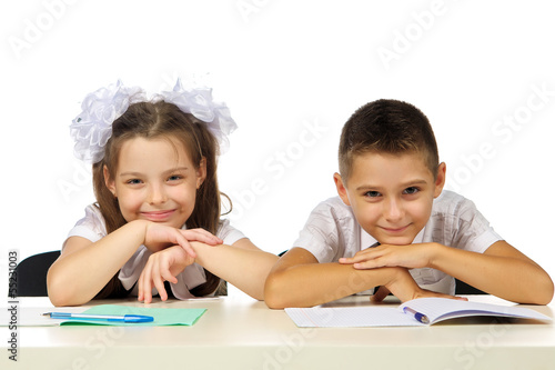 boy and girl at the desk