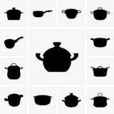 Set of pan icons