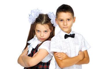 Students boy and girl