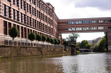 Buntgarnwerke am Elsterkanal in Leipzig Plagwitz