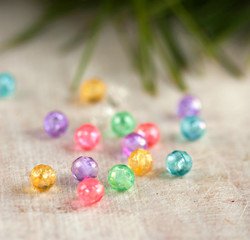 holiday background - scattered beads