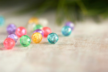 bright New Year's beads