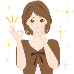 女性 OK 口コミ 秋物 かわいい イラスト