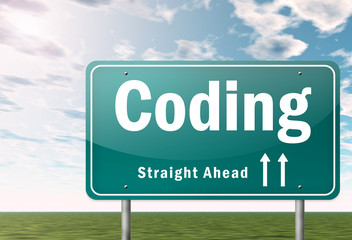 "Highway Signpost ""Coding"""