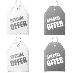4 x Label Special offer grey