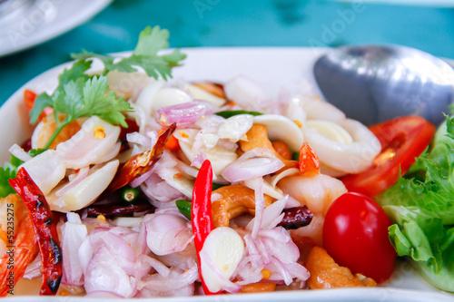 Canvastavla Spicy Sea Food
