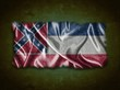 Vintage Mississippi flag.