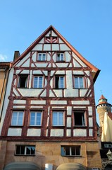 Fachwerkhaus in Nürnberger Altstadt