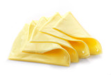 Creamy processed cheese slices