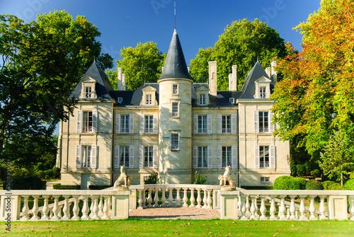 Leinwanddruck Bild Chateau Pichon Lalande in region Medoc, France