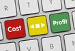 Cost vs profit tastatur