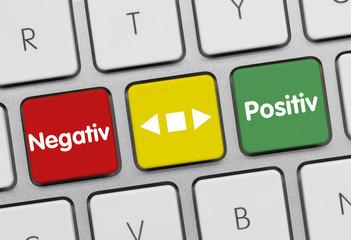 Positiv oder negativ Tastatur
