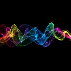 abstract ribbon waves