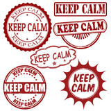 Keep calm stamps set poster