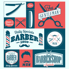 barber shop logo graphics and icons
