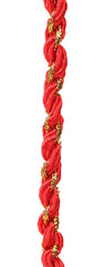 Red and gold gift wrapping cord