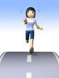 Marathon runner healthy
