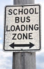 School bus loading zone