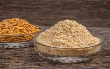 Rice bran and Paddy