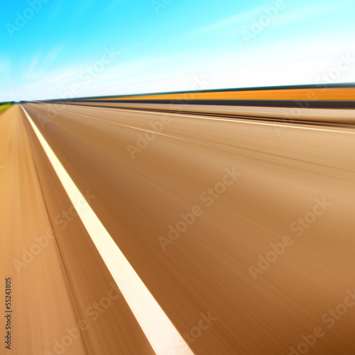 Road with motion blur.