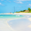 View of the caribbean Varadero beach in Cuba