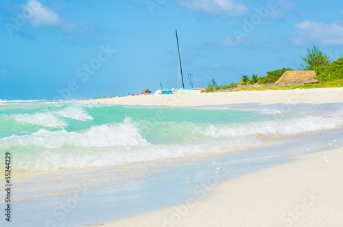 The beautiful Varadero beach in Cuba