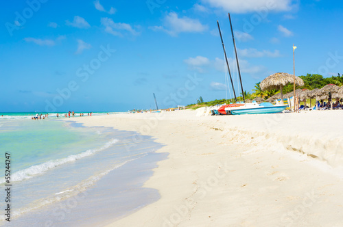 Calm sea at Varadero beach in Cuba