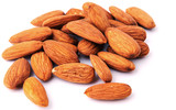 Almond nuts isolated