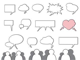 Sprechblasen, Kommunikation & Interaktion
