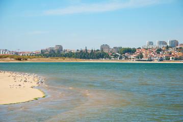 Sandy beach of natural reserve in Porto, Portugal