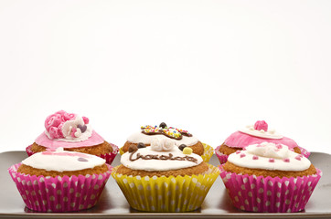 Plate with different cakes