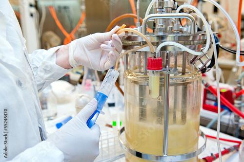 Leinwanddruck Bild biotechnological laboratory