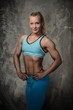 Beautiful bodybuilder woman