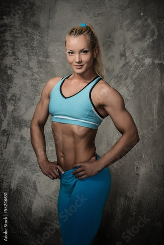Beautiful bodybuilder woman